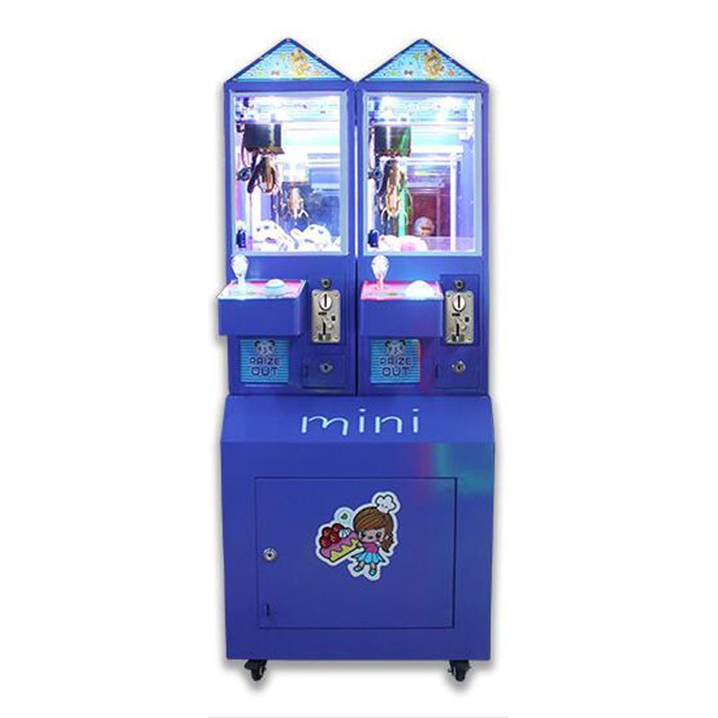 full metal 2 players mini  crane machine
