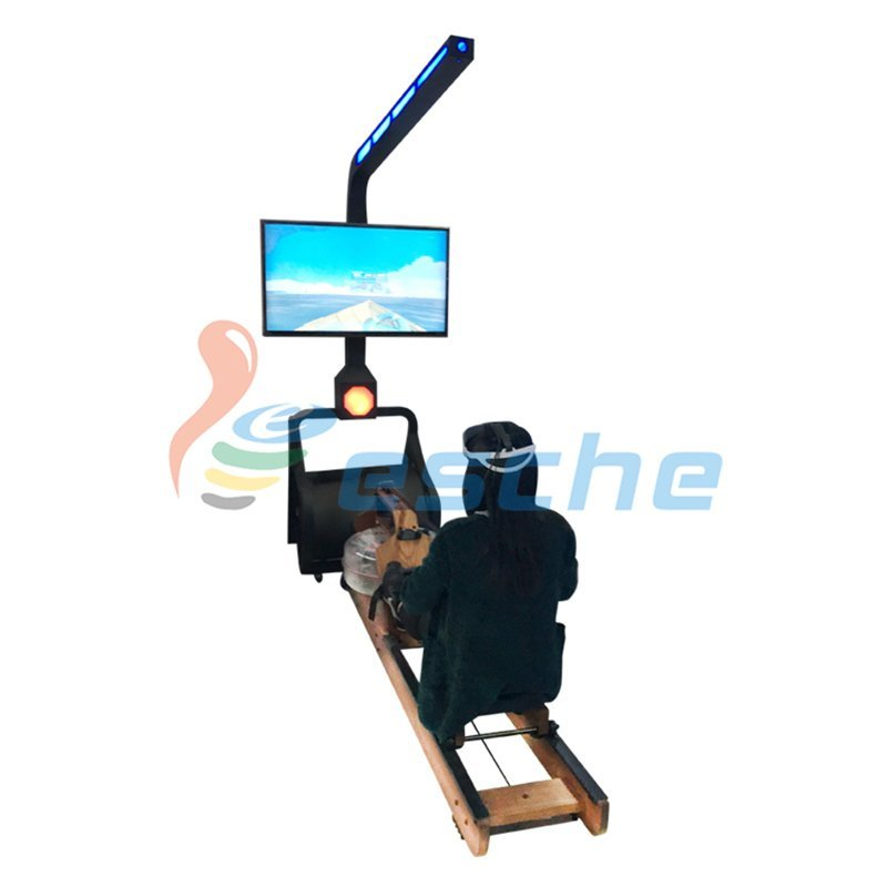 Leesche Gym fitness surfing water rowing simulator dynamic 9D vr rowing VR Slide image25