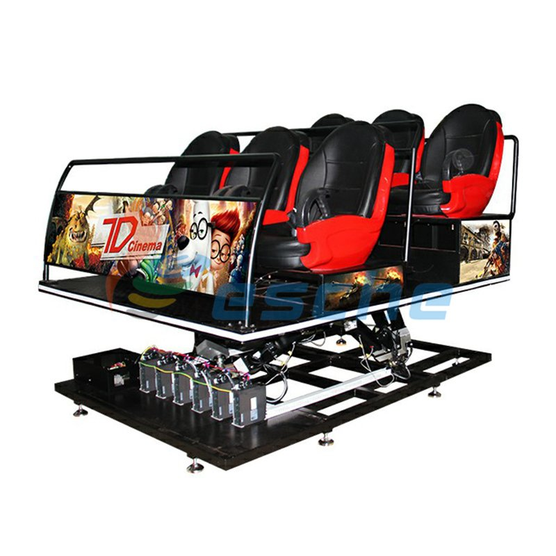 Leesche Special Motion Platform Truck Mobile 6 Seats 7D Cinema