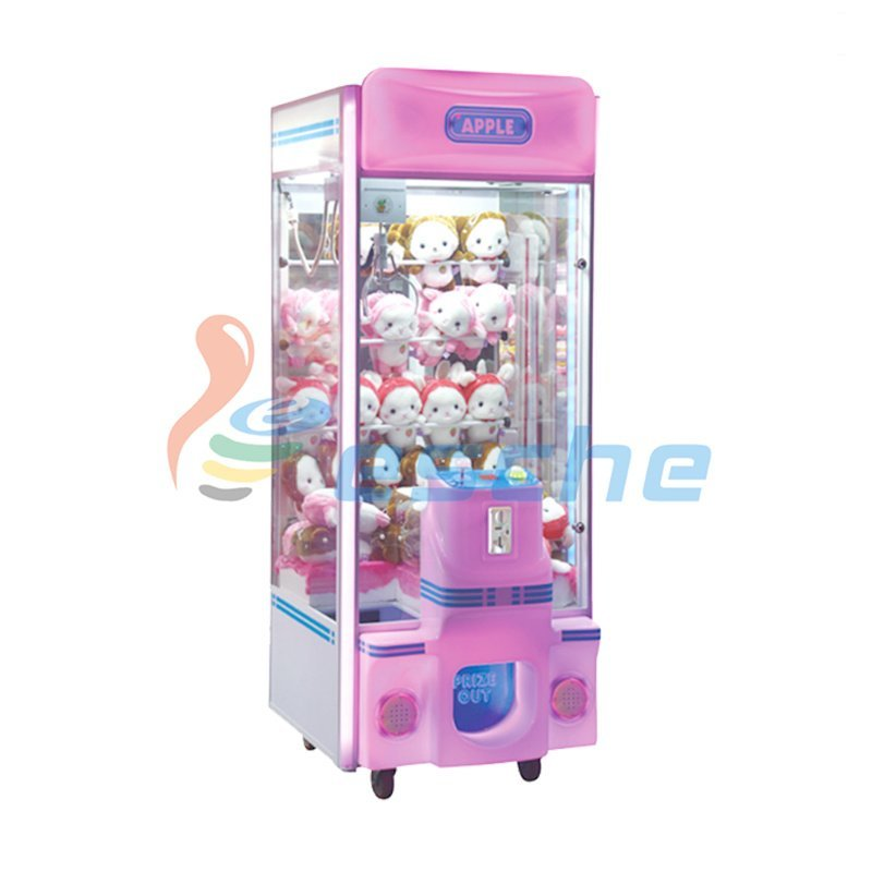 Leesche plush crane machine bill acceptor coin operated claw machine