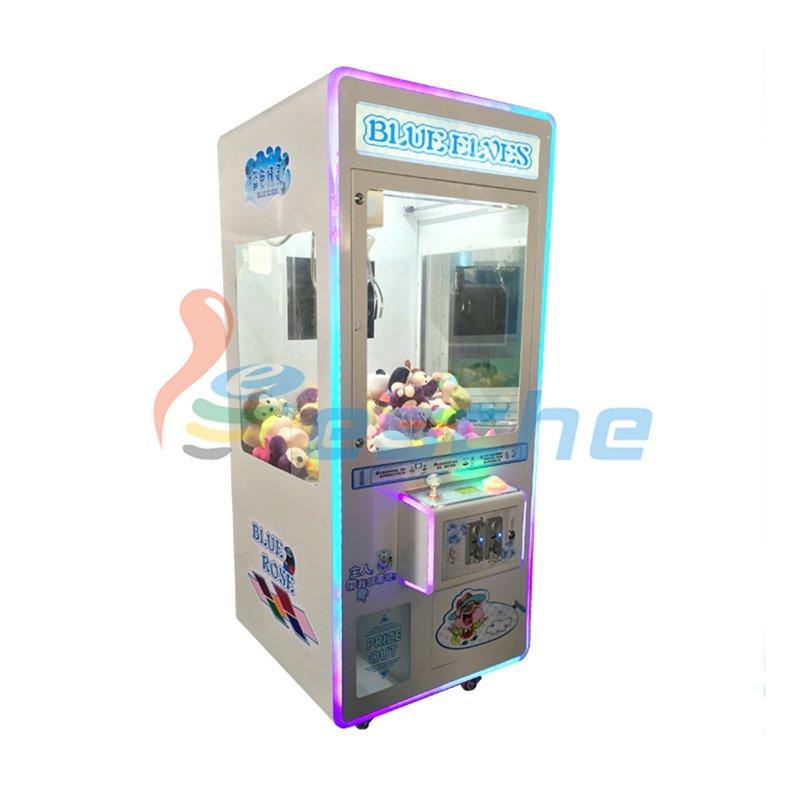 Plush crane toy vending machine coin pusher toy claw machine