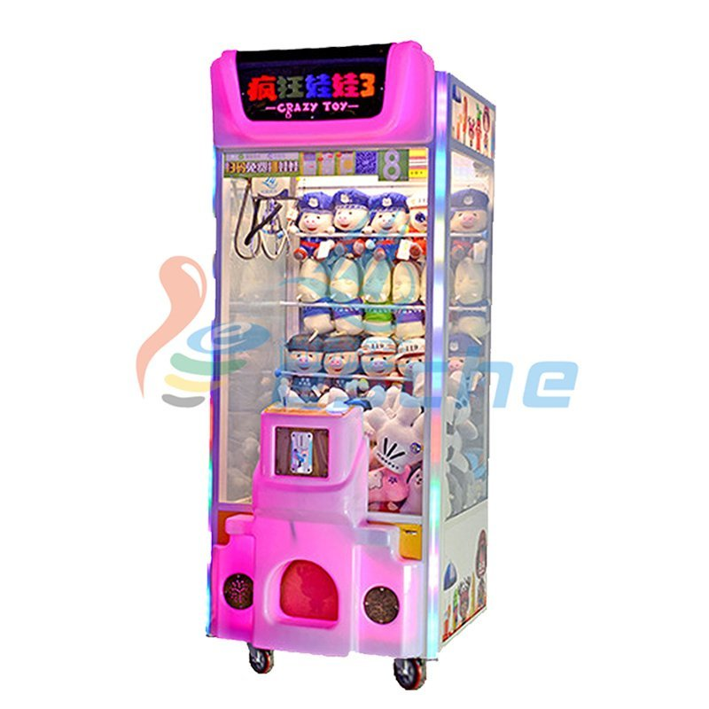 Attractive plush toys amusement claw crane vending machines for sale