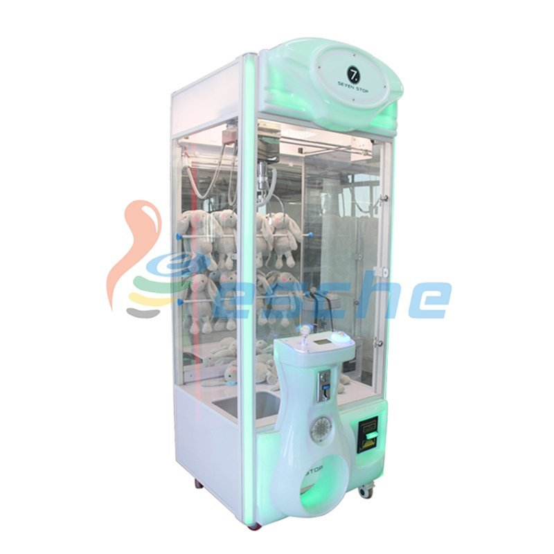 Bill acceptor coin operated arcade toy crane claw machine