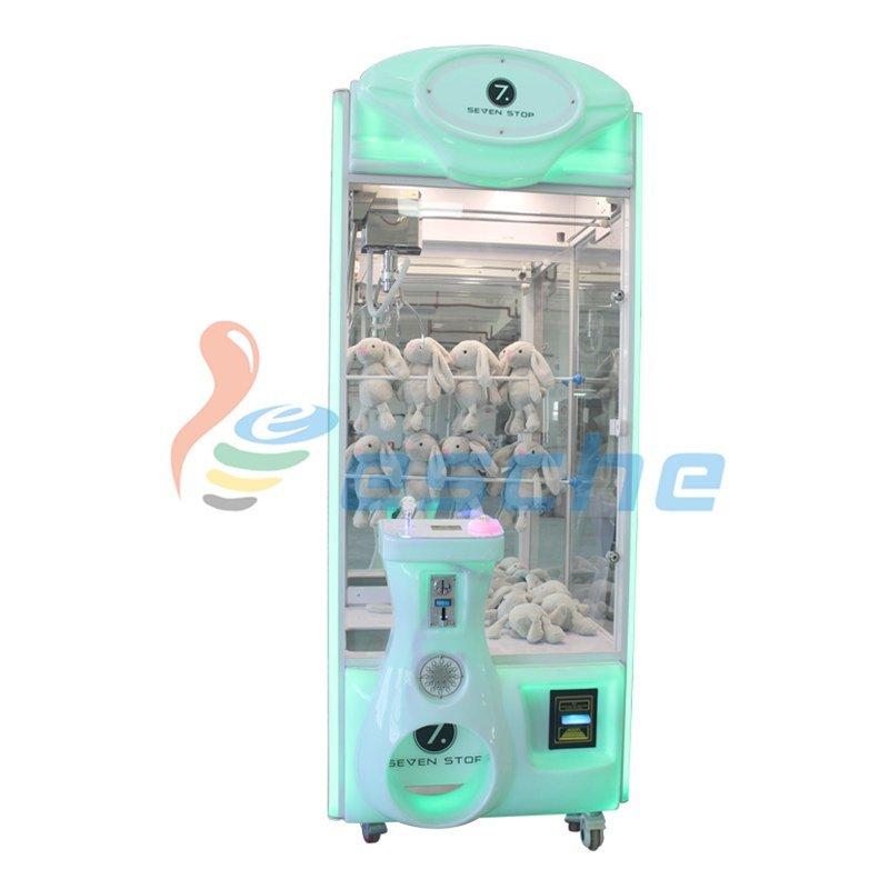 Bill acceptor coin operated arcade toy crane claw machine
