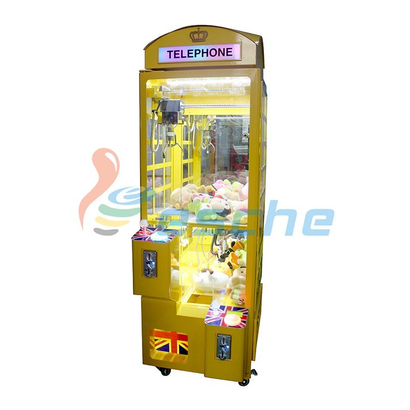 Newest coin operated arcade toy claw crane game machine