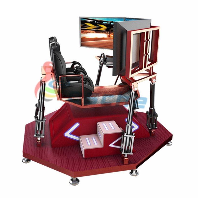 360 degree 3 screens 6 axis 2 seats vr racing simulator