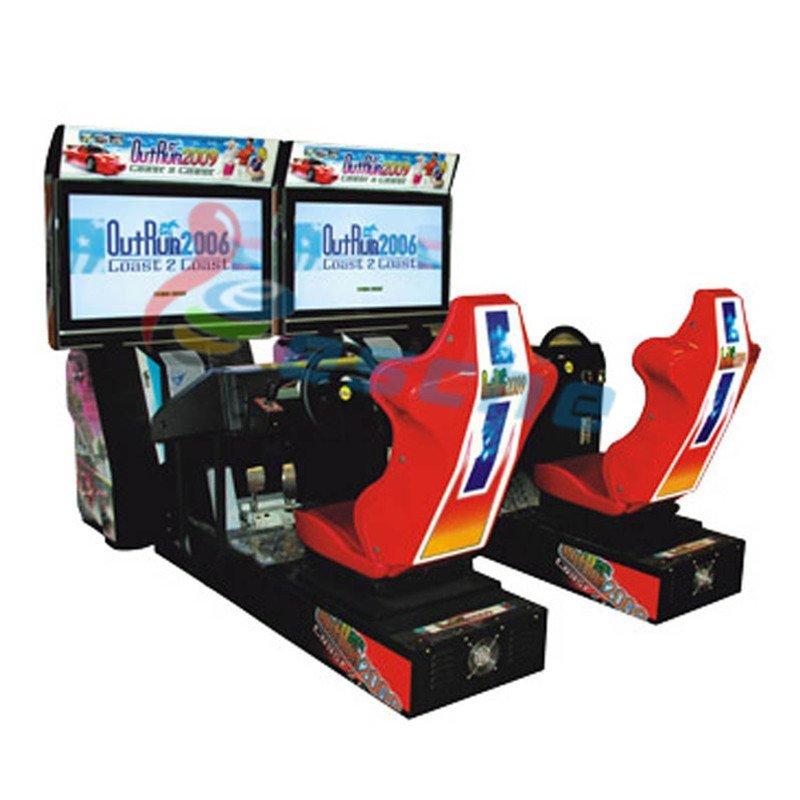 single player arcade car driving game machine