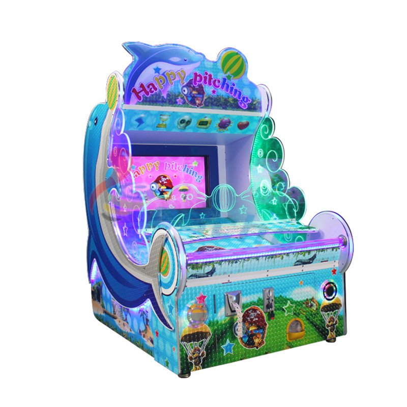 Leesche Happy pitching 32 Inch screen coin operated ball shooting game machine Arcade Game Machine image9