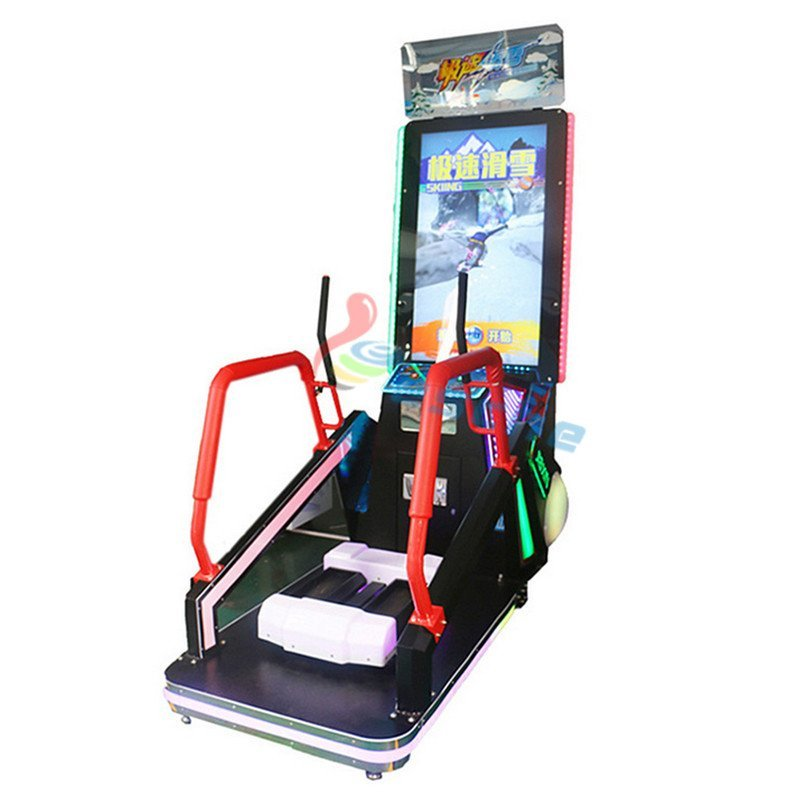 Leesche coin operated redemption machine skiing video game machine
