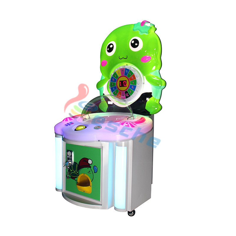 kids coin operated candy vending machine lollipop game machine